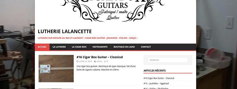 Site Web de Lutherie Lalancette